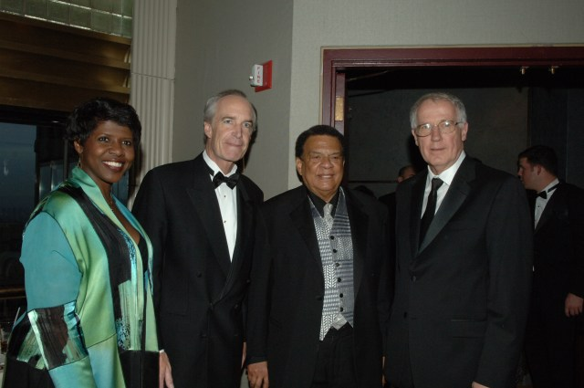 [Assignment: 48-DPA-04-11-08_SOI_K_Af-Am_Exp] Fundraising gala for the National Park Foundation's African American Experience Fund (AAEF) at the Rainbow Room in Rockefeller Center, New York City, New York, where Secretary Dirk Kempthorne [joined former U.S. Ambassador to the United Nations and civil rights leader Andrew Young, former Assistant Secretary of Labor and Little Rock school integration pioneer Ernest Green, Coca-Cola Company Vice President Ingrid Saunders Jones, public television news correspondent and moderator Gwen Ifill, and AAEF Board of Trustees Chairman Robert Harris among the dignitaries on hand] [48-DPA-04-11-08_SOI_K_Af-Am_Exp_IOD_3306.JPG] (NAID 7920001)