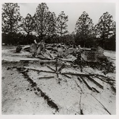 Ruins of the Mt. Pleasant Society Hall in Gluckstadt, Mississippi, Destroyed by Fire on August 11, 1964