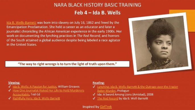 Ida B. Wells-Barnettwas born into slavery on July 16, 1862 and freed by the Emancipation Proclamation. She held a career as an educator and later a journalist chronicling the African American experience in the early 1900s. Her work on documenting the lynching practices in The Red Record, and horrors of the South attained a global audience despite being labeled a race agitator in the United States.