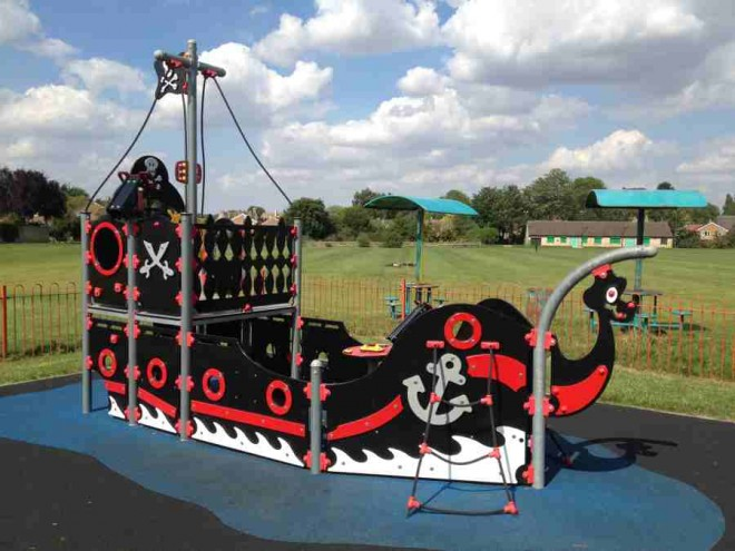 kidlington, playpark, football ground, kids, oxfordshire, pirate ship