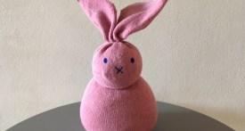 sock bunny, homemade sock bunny, sock bunny tutorial, how to make a sock bunny, sock bunny kids craft, sock bunny filled with rice