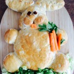 bunny bread, rabbit bread, easter baking, kids, fun food
