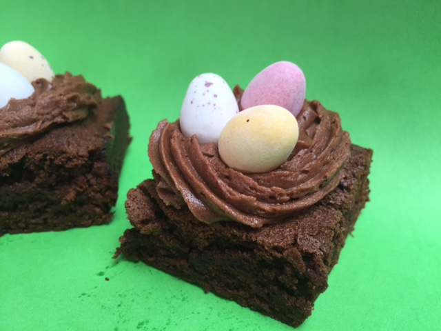 chocolate brownie easter nests red kite days
