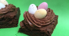 easy chocolate brownie, easter, bake sale, school cake sale, easter recipes