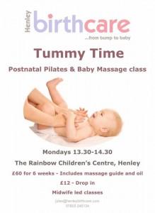 postnatal pilates, henley, baby massage