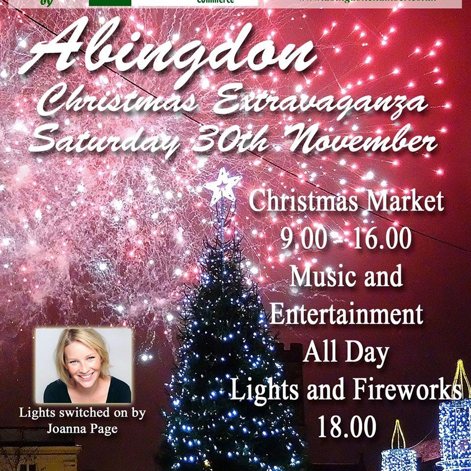 Abingdon Christmas Market, Abingdon Christmas lights, Abingdon Christmas fireworks, Abingdon fireworks, Abingdon lights switch on time