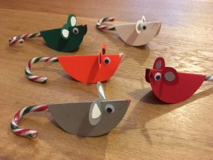 candy cane mouse, christmas craft with candy canes, candy cane mice, candy cane animals, candy cane decorations, candy cane craft, how to make a candy cane mouse