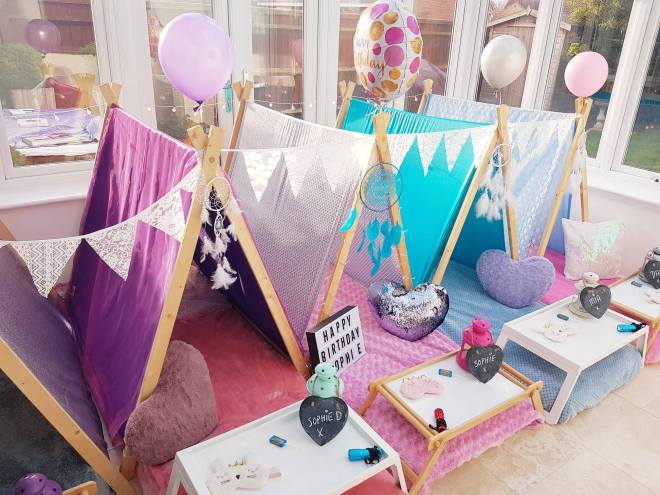indoor tents for sleepovers, slumber party tent rentals