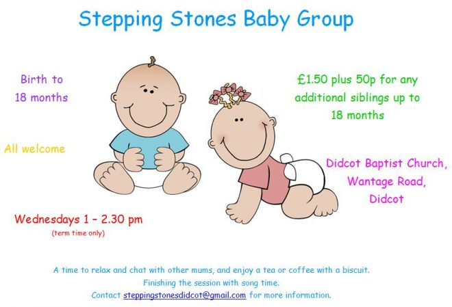 stepping stones baby group didcot, baby group didcot, new mums didcot, whats on for kids in didcot