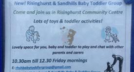risinghurst toddler group, sandhills toddler group, toddler groups heading, friday toddler group oxford
