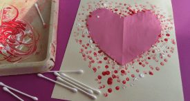 toddler valentine craft, toddler valentine heart, heart painting