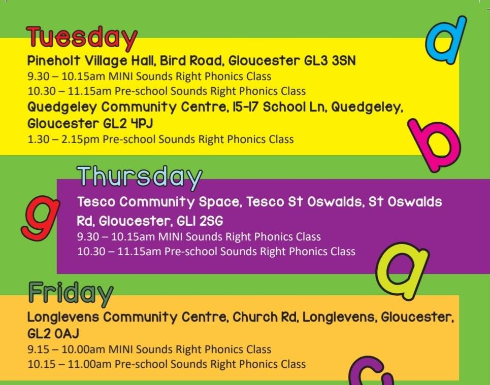 toddler class gloucester, phonics for kids gloucester, toddler educational classes gloucester