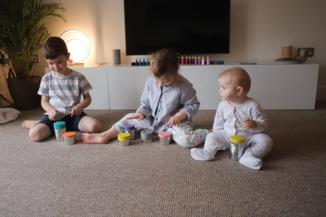 tin can drum kids, balloon top drum, make musical instrument kids