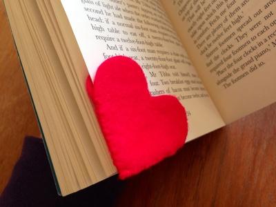 felt heart bookmark, heart bookmark, mothers day bookmark