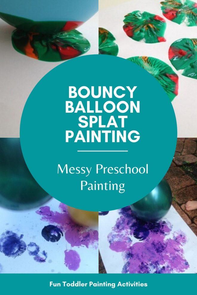 balloon painting, preschool balloon painting, toddler balloon painting