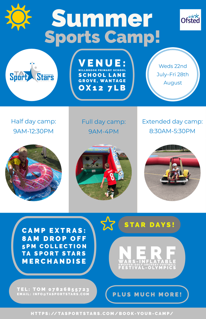 holiday club Wantage, summer holiday club Wantage, summer holiday camp Wantage, sports holiday club