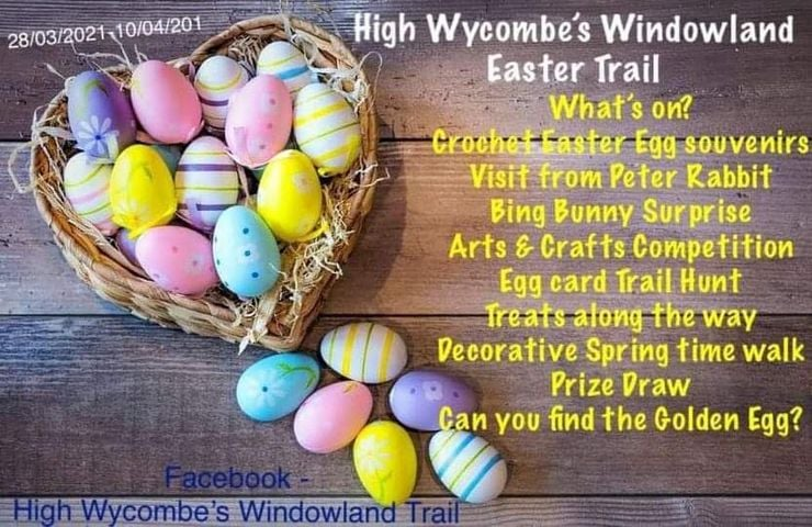 easter activities high wycombe, easter trail high wycombe, bucks easter trail 2021