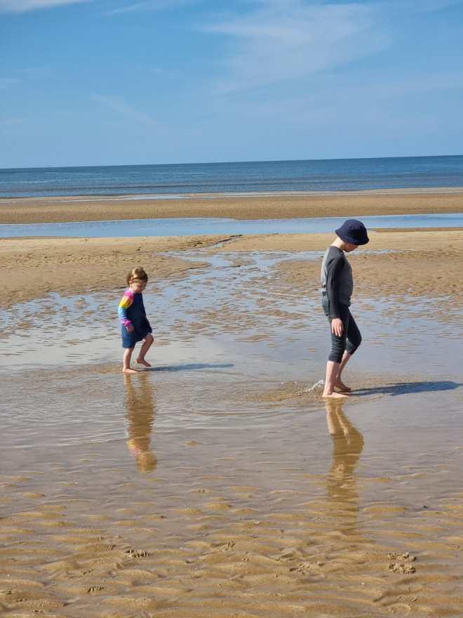 Formby Beach England, Family Beach Trip near Cheshire