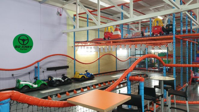 go karts and little tikes cars at soft play in hemel