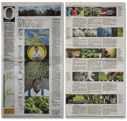 The spread in Sunday's Outlook section
