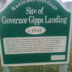 The Governor's landing site, he didn't stay too long on the mud flats