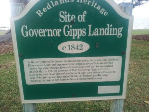 The site of Governor Gipps landing is part of our heritage