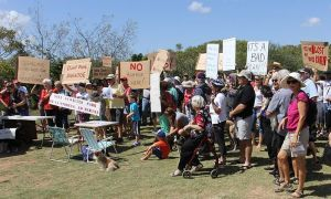 Coomunity action includes protests