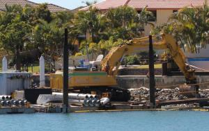 Raby Bay canal repair work