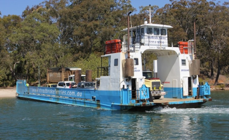 A vehicle barge servicing the Southern Moreton Bay Islands (SMBI)