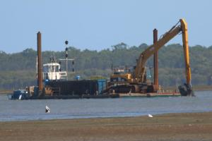 Dredging at Toondah Harbour