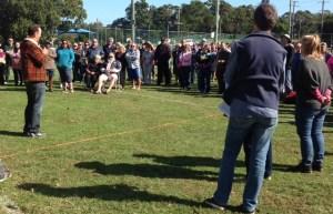 Cr Craig Ogilvie addresses the rally