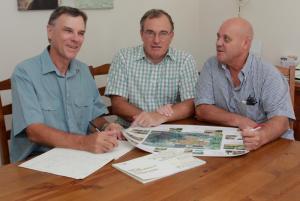 The Redlands2030 guys - from left to right Chris Walker, Steve MacDonald and Tom Taranto