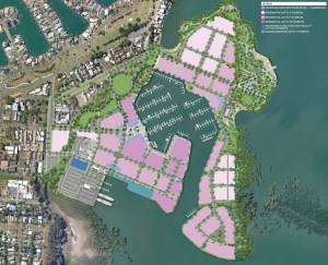 Walker Corporation's 'Master Plan' for Toondah Harbour (click to enlarge)
