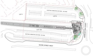Current car parking bays at Cleveland train station as per drawings submitted by the developer (click to enlarge)