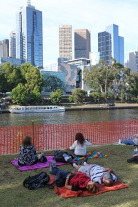Melbourne leads the pack of Australian cities that rank highly for liveability, but they rate much more poorly for sustainability. AAP/David Crosling