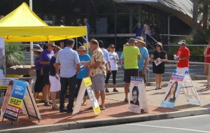 Pre-poll voting is underway for the Redlands election on 19 March