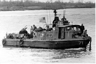 A swift boat operating in Vietnam during the 1960s