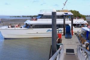 Calypso docking at Toondah Harbour