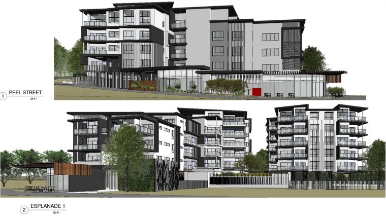 Architect's drawings of proposed Redland Bay units