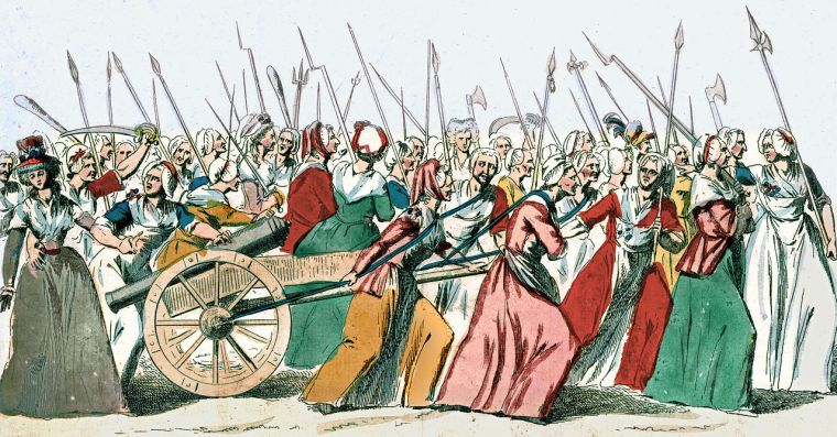 "Women's March on Versailles (1789) leading up to the ""age of foolishness"""