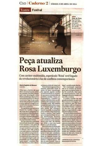 Roza-Teatro sobre Rosa Luxemburgo