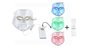 PROJECT E BEAUTY PHOTON THERAPY RED BLUE GREEN LIGHT MASK REVIEW