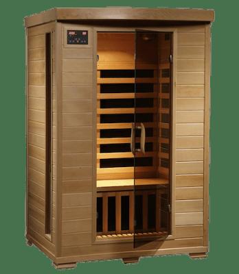 2. 2-Person Hemlock Deluxe low emf sauna