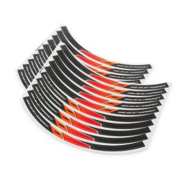 KTM WHEEL RIM STICKER KIT SX/EXC BLACK/ORANGE