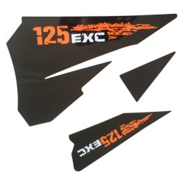 KTM REAR GRAPHIC DECALS 125 EXC 2007