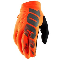 100% BRISKER YOUTH COLD WEATHER GLOVE ORANGE