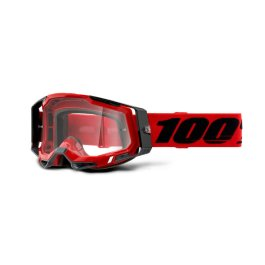 RACECRAFT 2 GOGGLE RED – CLEAR LENS