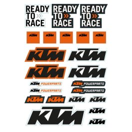 KTM STICKER SHEET