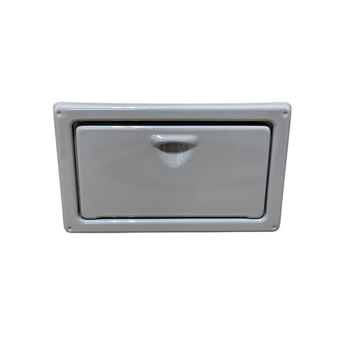 Thermoformed ABS marine compartment door and frame