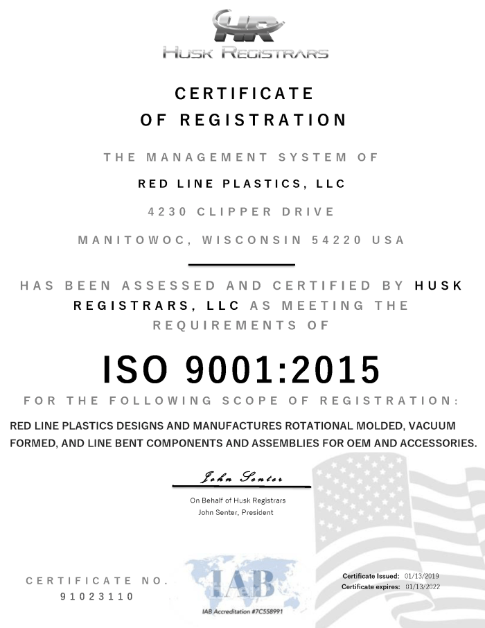 IOS 9001:2015 Certified